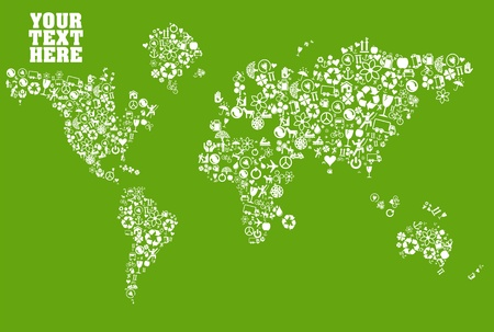 Global ecology concept vector background Vector