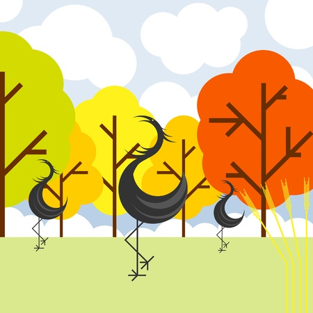 Crane vector background