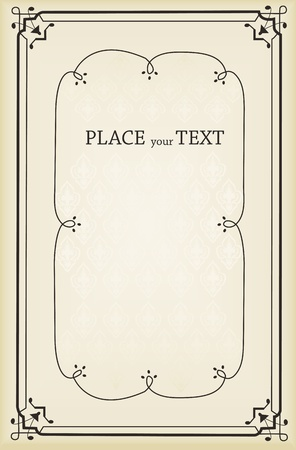 free place: Vector vintage background