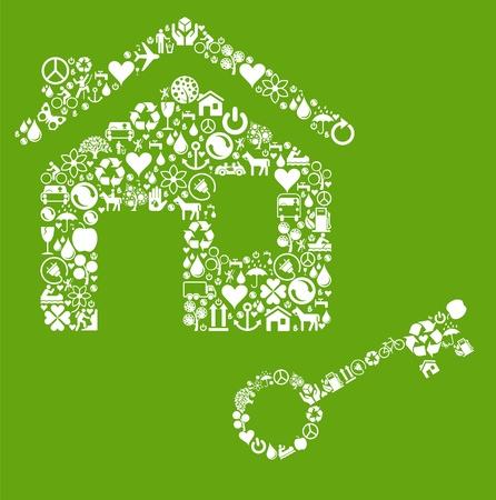Ecology house vector concept Vector