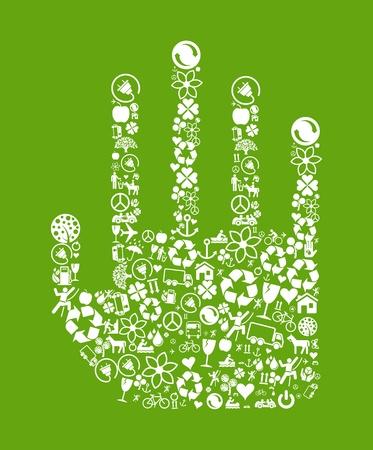 Ecology hand vector Vector