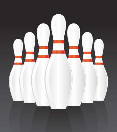 ten pin bowling: Bowling ball vector background