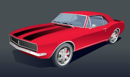 American vintage muscle car Stock Vector - 10044189