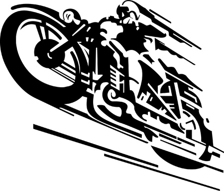 motor transport: Stylized motorcyclist vector background Illustration