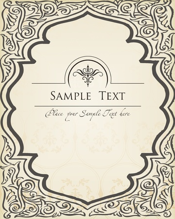 free vintage background: Vector Vintage background Illustration