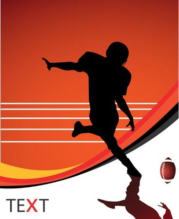 uniforme de futbol: Fondo de vector de jugador de f�tbol americano