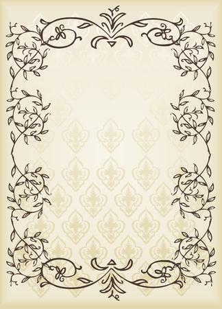Vintage card design Vector