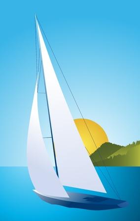 Sailing ship vector Vector