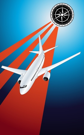 Airliner vector background Stock Vector - 10044174