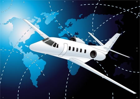 Airliner vector background Stock Vector - 10044176