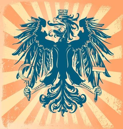 herald: Heraldic eagle vector Illustration