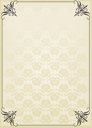 royal invitation: Vintage background for book cover or card Illustration