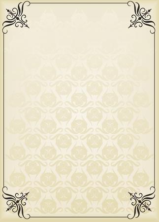samples: Vintage background for book cover or card Illustration
