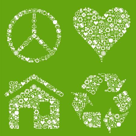 evaporacion: Signos de la ecología a partir de los iconos de eco
