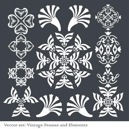 Vintage element set Vector