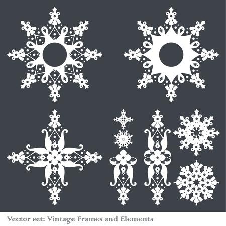 Vintage element set Stock Vector - 10267148