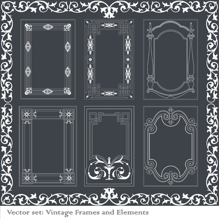 Vintage element set Stock Vector - 10267132