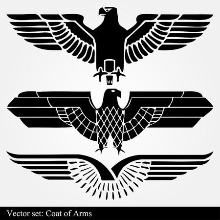 Vintage eagle set Vector