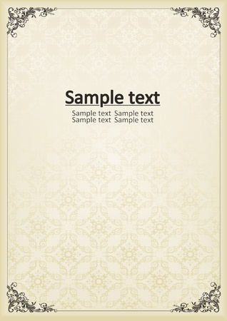 grens: Vintage decoratief kader voor de cover van het boek of kaart achtergrond