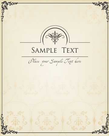 Vintage decorative frame for book cover or card background Vector