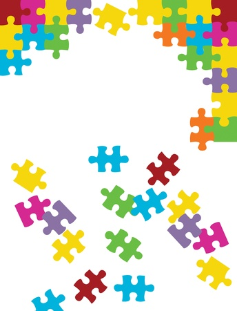 Vector puzzle background Vector