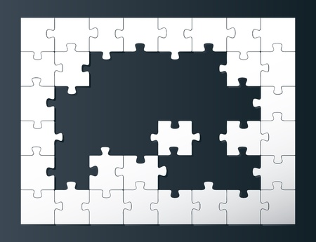 cross match: Vector puzzle background