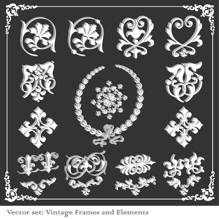 Vintage elements background set Stock Vector - 10323760