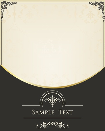 Vintage background vector for book cover or card Vector