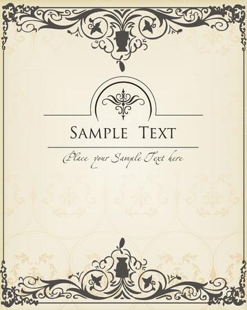 Vector de fondo Vintage para la portada del libro o tarjeta