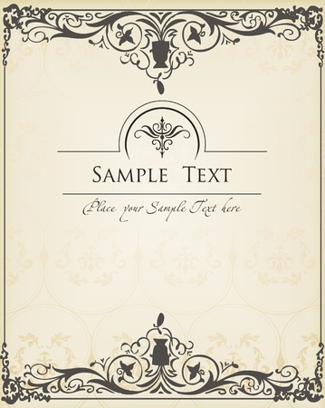 Vintage background vector for book cover or card