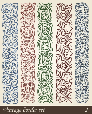victorian scroll: Vector Set of Vintage Design Elements Illustration