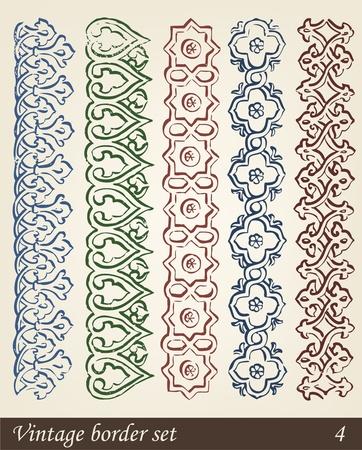 Vector Set of Vintage Design Elements Illustration