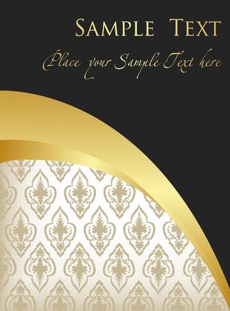 dinner party: Vintage Golden Background vector