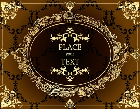 Vintage Golden Background vector Stock Vector - 10323669