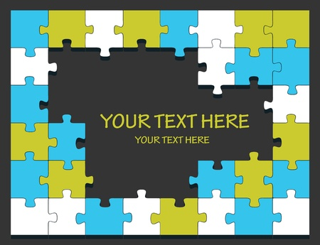 Puzzle background with copy space Vector