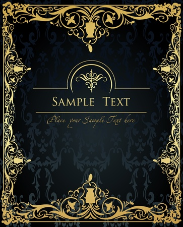 royal invitation: Vintage Golden Background vector