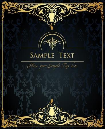 tarjeta de invitacion: Vector de fondo dorado Vintage