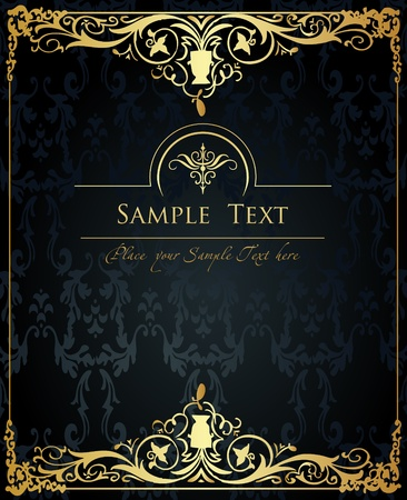 elegant: Vintage Golden Background vector