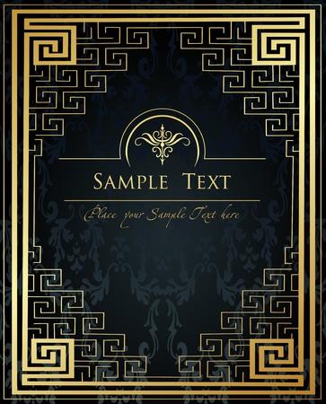 古美術品: ヴィンテージ黄金背景ベクトル  イラスト・ベクター素材