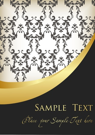 luxury party: Vintage Golden Background vector