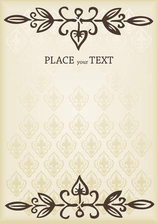 Vintage frame book cover background vector Vector