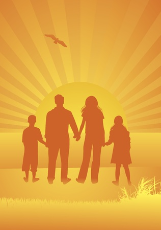 Family vector background Stock Vector - 10323136