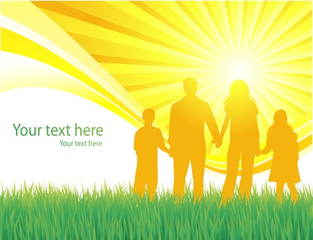 Family background Stock Vector - 10314181