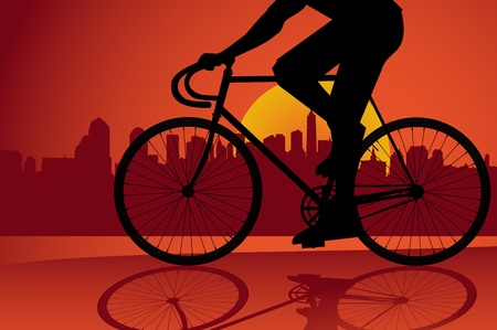 Bicycle trick background