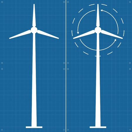Wind alternative energy vector background