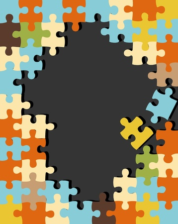Puzzle vector background Vector