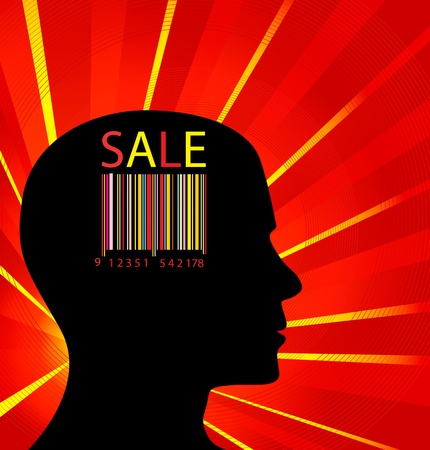 Head finance sale out Vector
