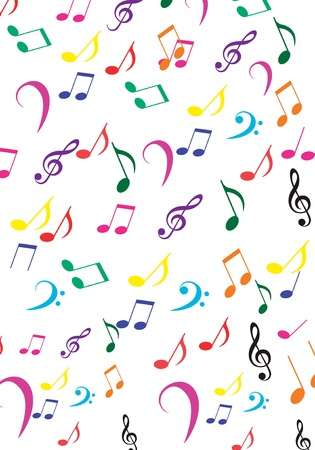 Music notes background Stock Vector - 10323792