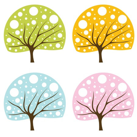 Tree set Stock Vector - 10330737