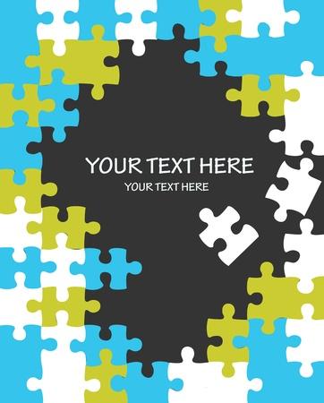 mind games: Fondo de puzzle con espacio de copia Vectores